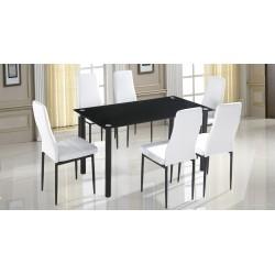 Conjunto mesa + 6 sillas Emi