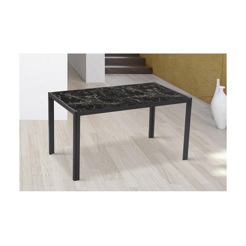 Mesas de cristal imitaci n m rmol muebles auxiliares - Mesas de marmol y cristal ...
