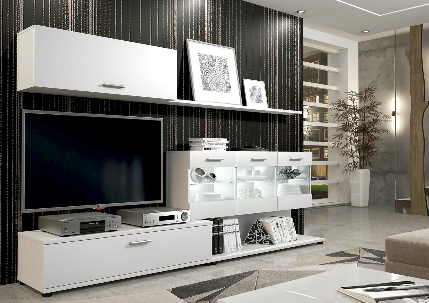 Moderna composición para salón con luces leds